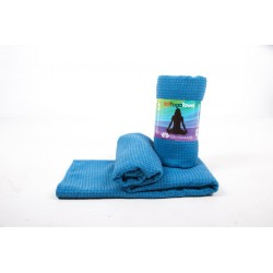 Om Namaste Hot-Yoga-Towel - blau