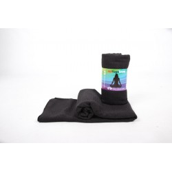 Om Namaste Hot-Yoga-Towel -  schwarz